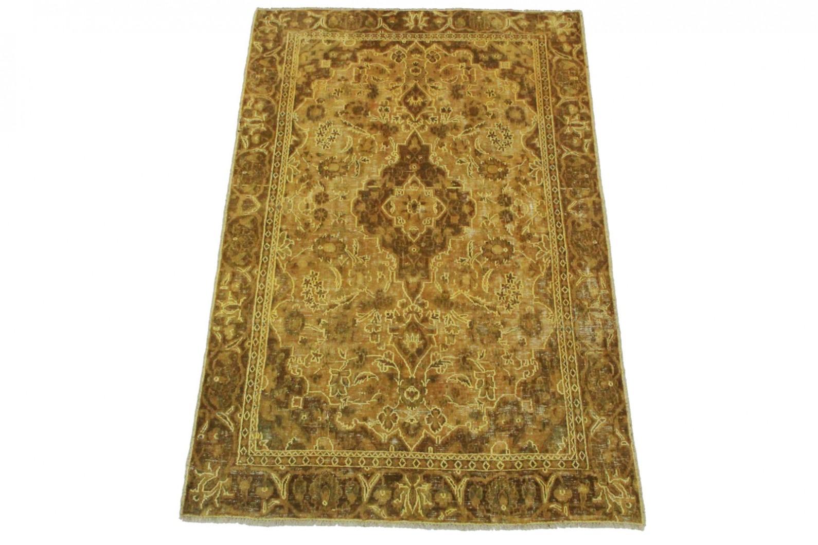 vintage teppich braun sand in 190x120cm 1001 3487 bei kaufen. Black Bedroom Furniture Sets. Home Design Ideas