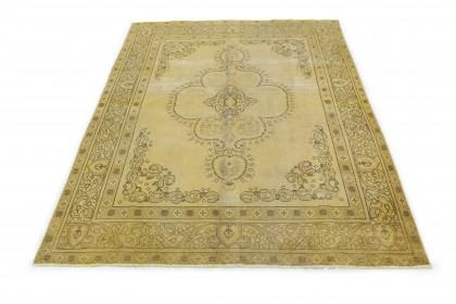 Vintage Teppich Gelb Gold in 350x240