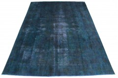 Vintage Teppich Blau Türkis in 390x280