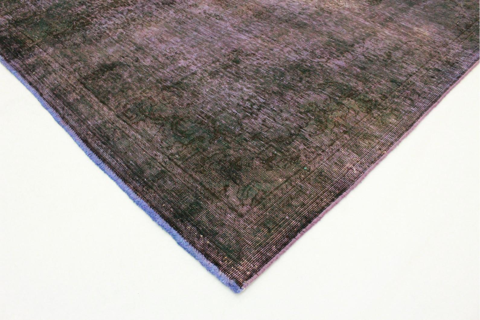 vintage teppich lila oliv in 230x230 1001 3504 bei kaufen. Black Bedroom Furniture Sets. Home Design Ideas