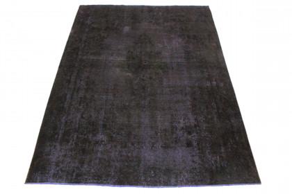 Vintage Teppich Schwarz Lila in 330x240