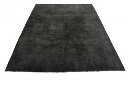 Vintage Teppich Schlamm Schwarz in 390x280