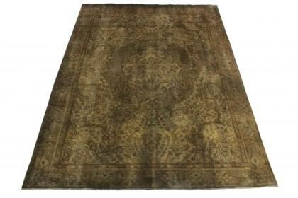 Vintage Teppich Braun Schlamm in 340x250
