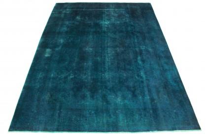 Vintage Teppich Blau in 390x290