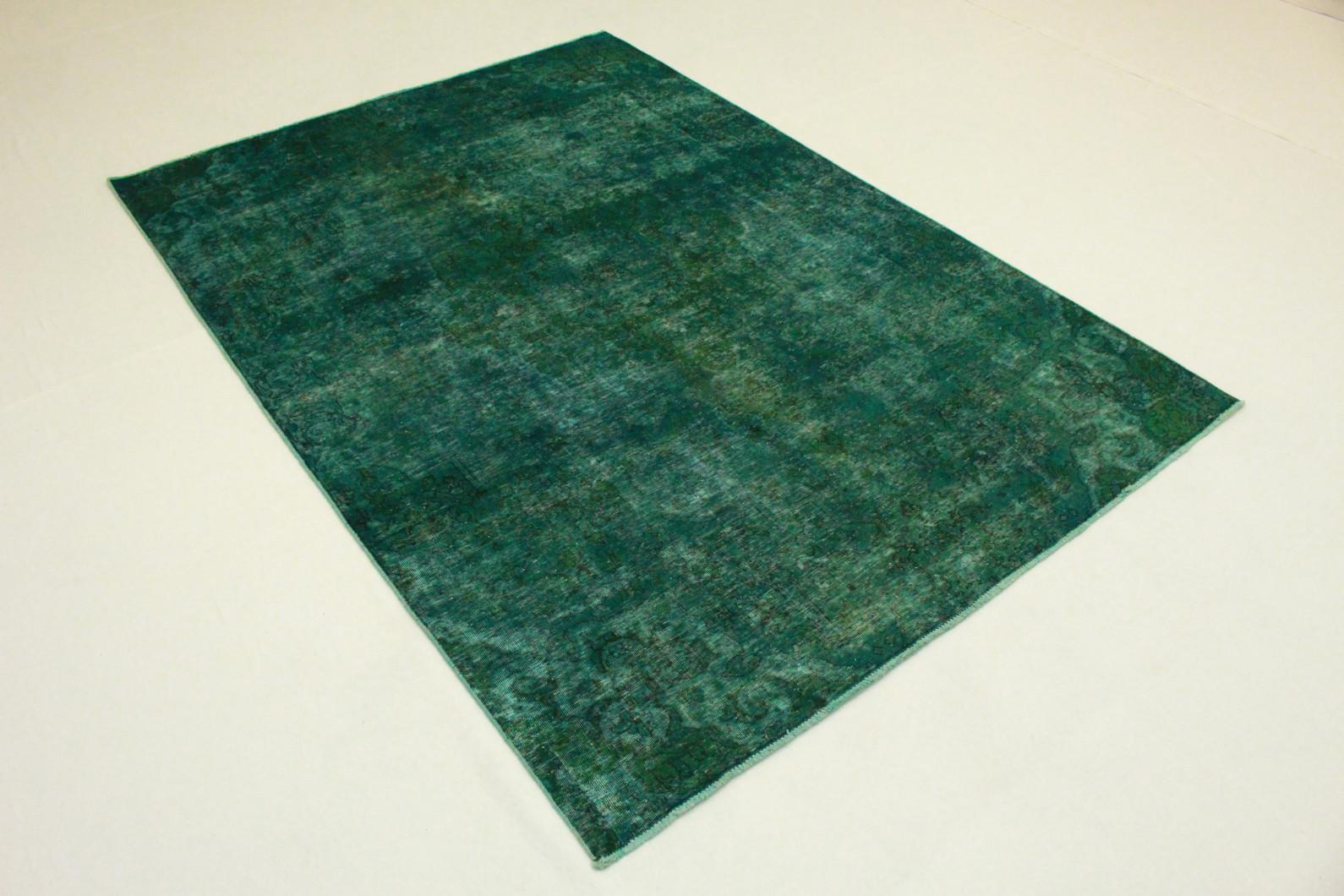 vintage teppich gr n t rkis in 290x210 1001 3547 bei. Black Bedroom Furniture Sets. Home Design Ideas