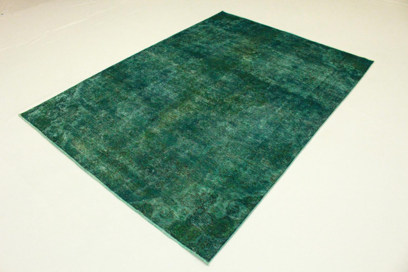 vintage teppich gr n t rkis in 290x210 1001 3547 bei kaufen. Black Bedroom Furniture Sets. Home Design Ideas