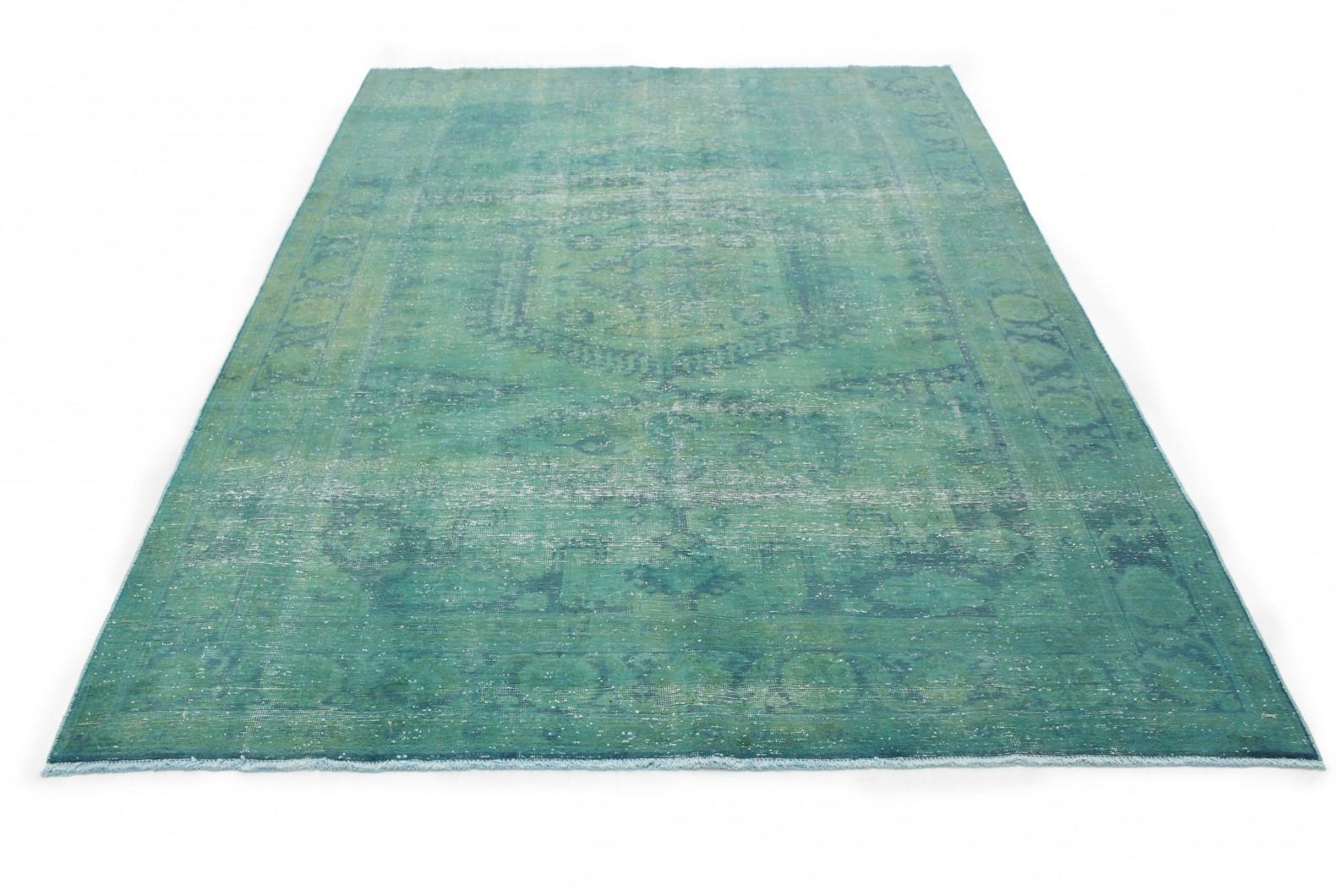vintage teppich gr n in 300x200 1001 3563 bei carpetido. Black Bedroom Furniture Sets. Home Design Ideas