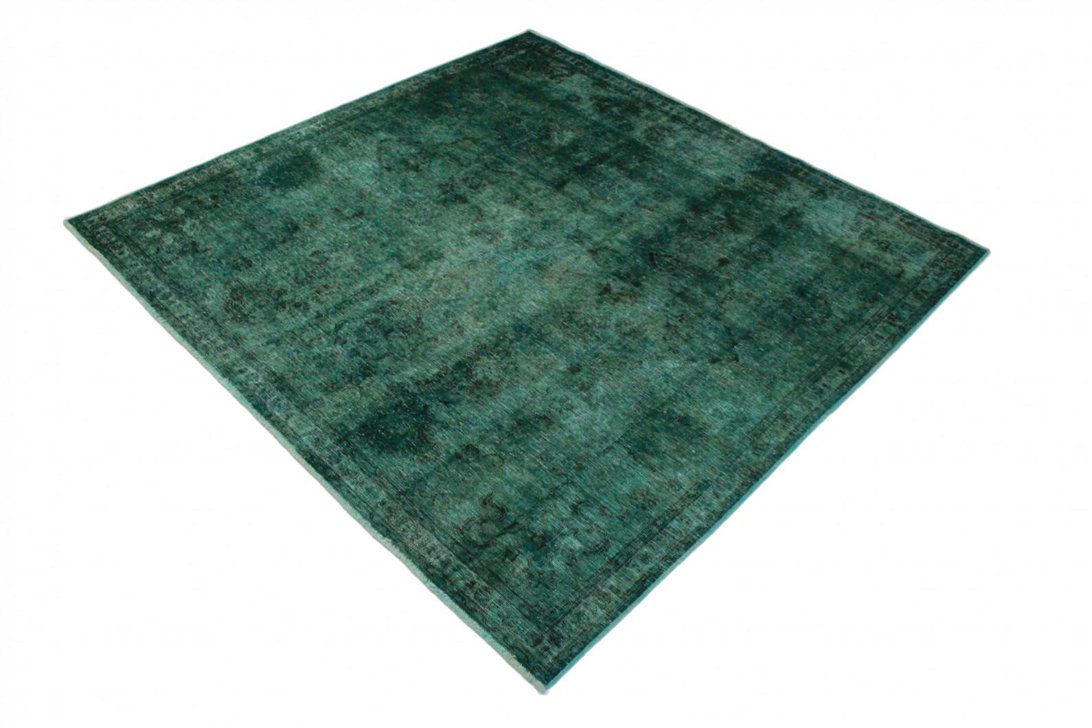 vintage teppich t rkis gr n in 220x220 1001 3566 bei kaufen. Black Bedroom Furniture Sets. Home Design Ideas