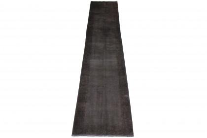 Vintage Teppich Schwarz in 430x90 1001-3575