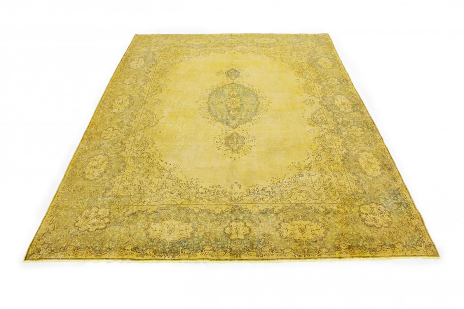 Vintage Teppich Gold Gelb in 420x300