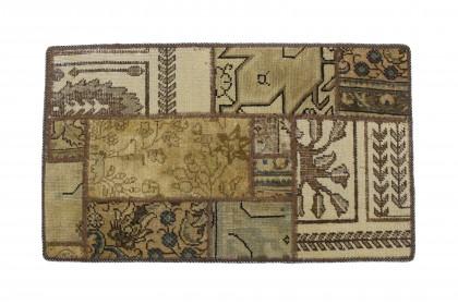Patchwork Teppich Beige in 90x60