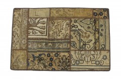 Patchwork Teppich Beige Sand in 90x60