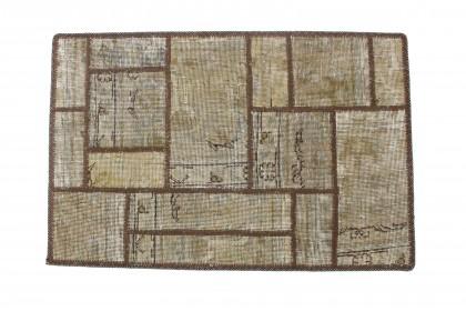 Patchwork Teppich Sand Beige in 90x60