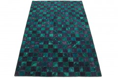 Patchwork Rug Purple Turquoise in 250x160cm
