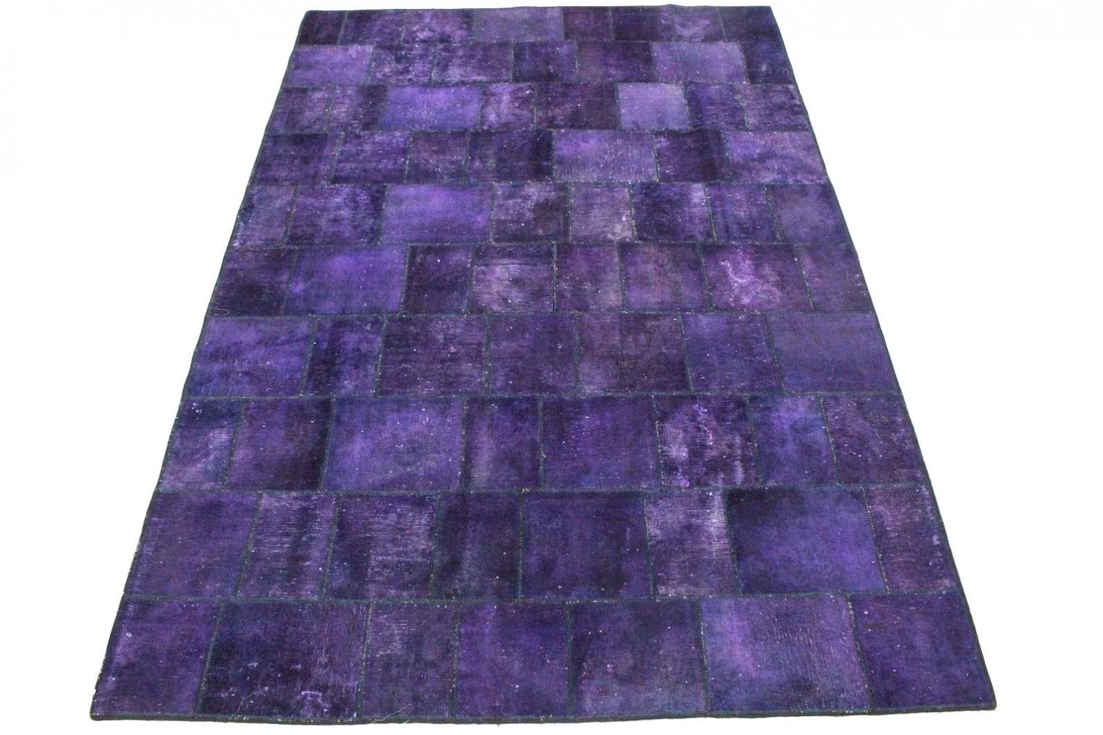Patchwork Teppich Lila in 300x200cm