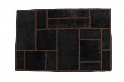 Patchwork Teppich Schlamm Braun in 90x60