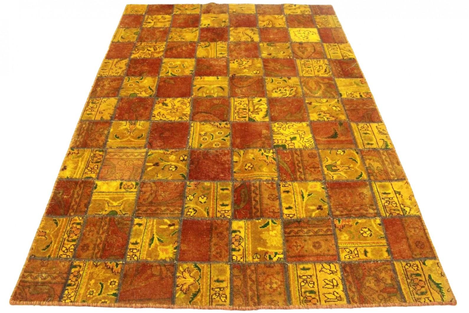patchwork teppich orange rot in 240x160cm 1001 3669 bei. Black Bedroom Furniture Sets. Home Design Ideas