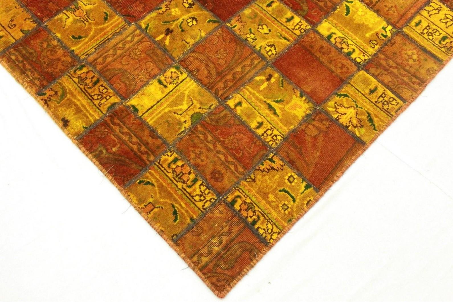 Patchwork teppich orange rot in cm bei