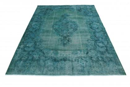 Vintage Teppich Türkis in 420x290 1001-3677