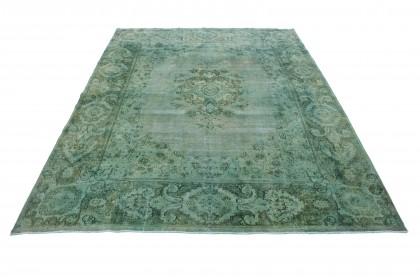 Vintage Teppich Grün Türkis in 420x310