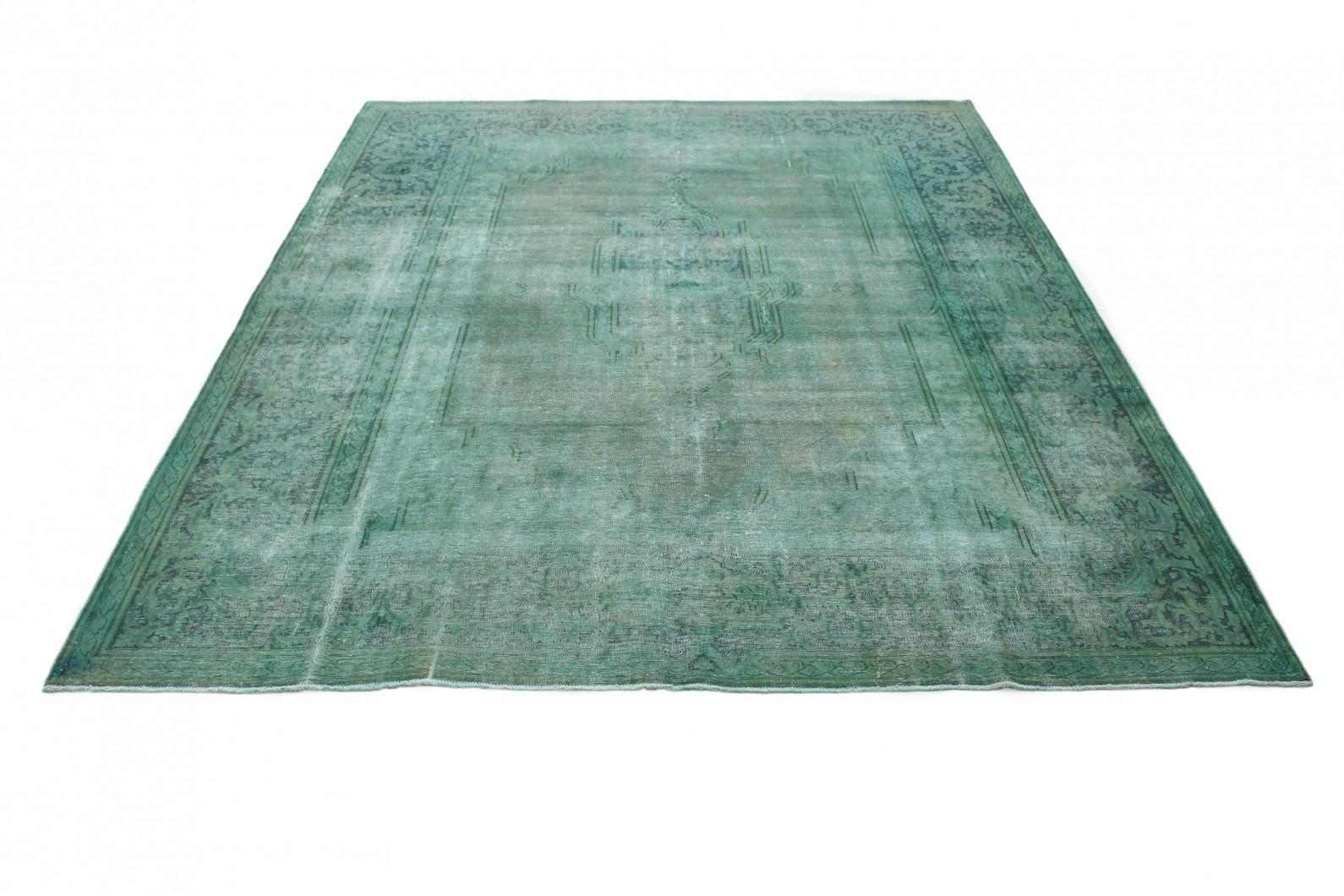 Vintage Teppich Türkis Grün in 410x310