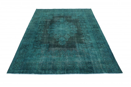 Vintage Teppich Türkis in 410x300 1001-3685