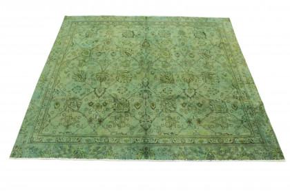 Vintage Teppich Grün in 250x250