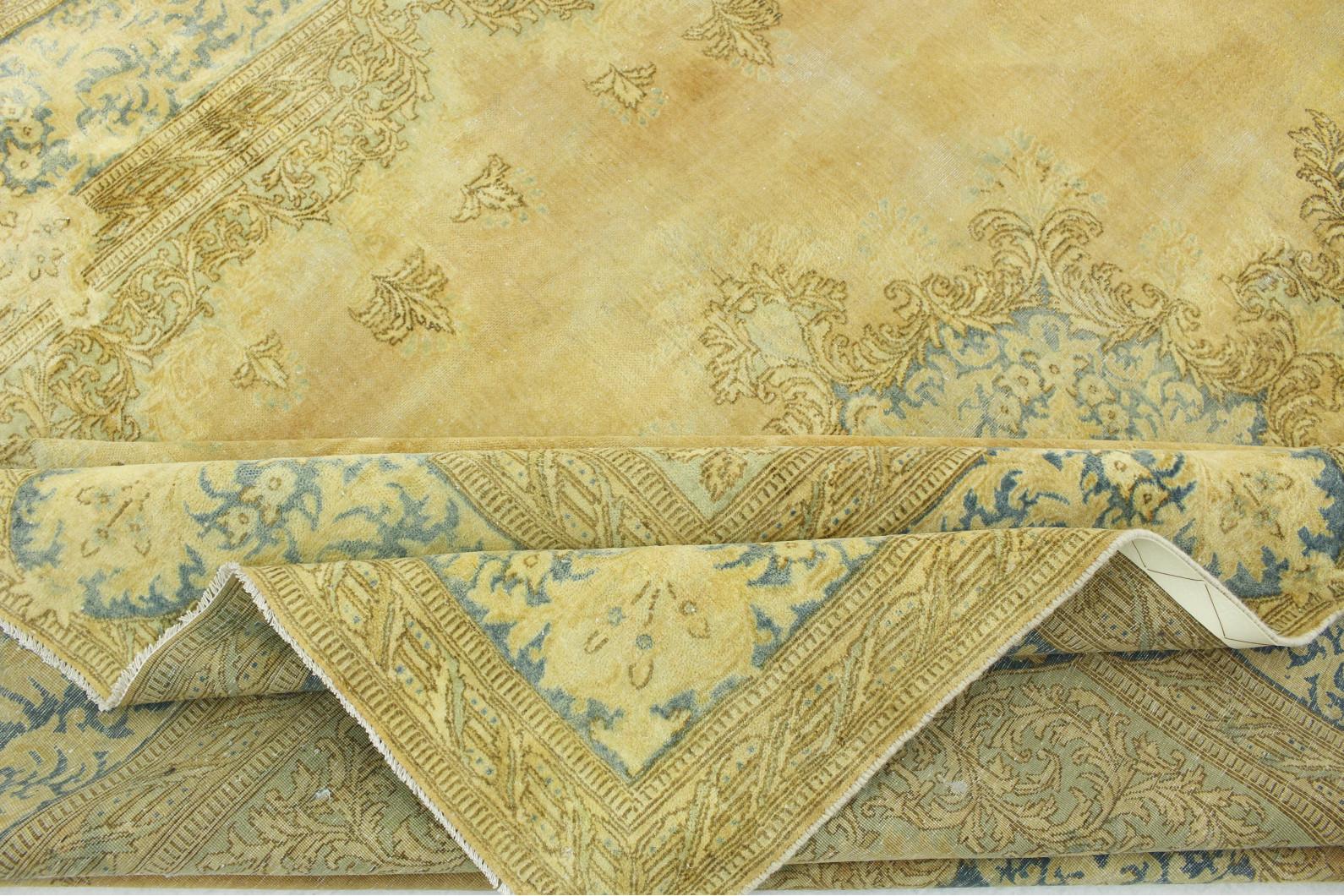 vintage teppich gold in 360x260 1001 3693 bei carpetido. Black Bedroom Furniture Sets. Home Design Ideas