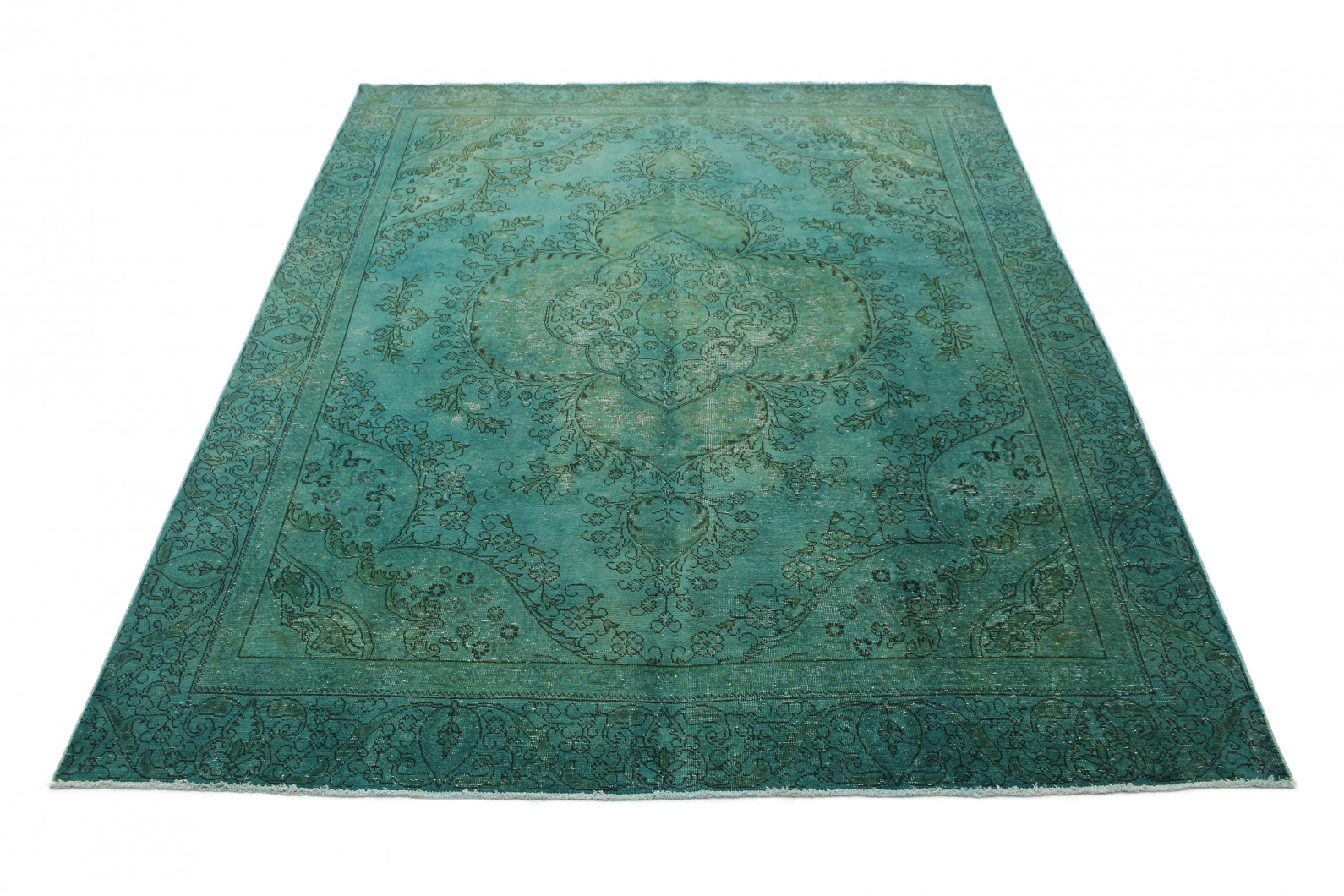 vintage teppich t rkis gr n in 360x280 1001 3695 bei kaufen. Black Bedroom Furniture Sets. Home Design Ideas