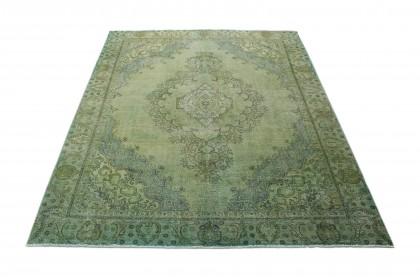 Vintage Teppich Grün Türkis in 370x280