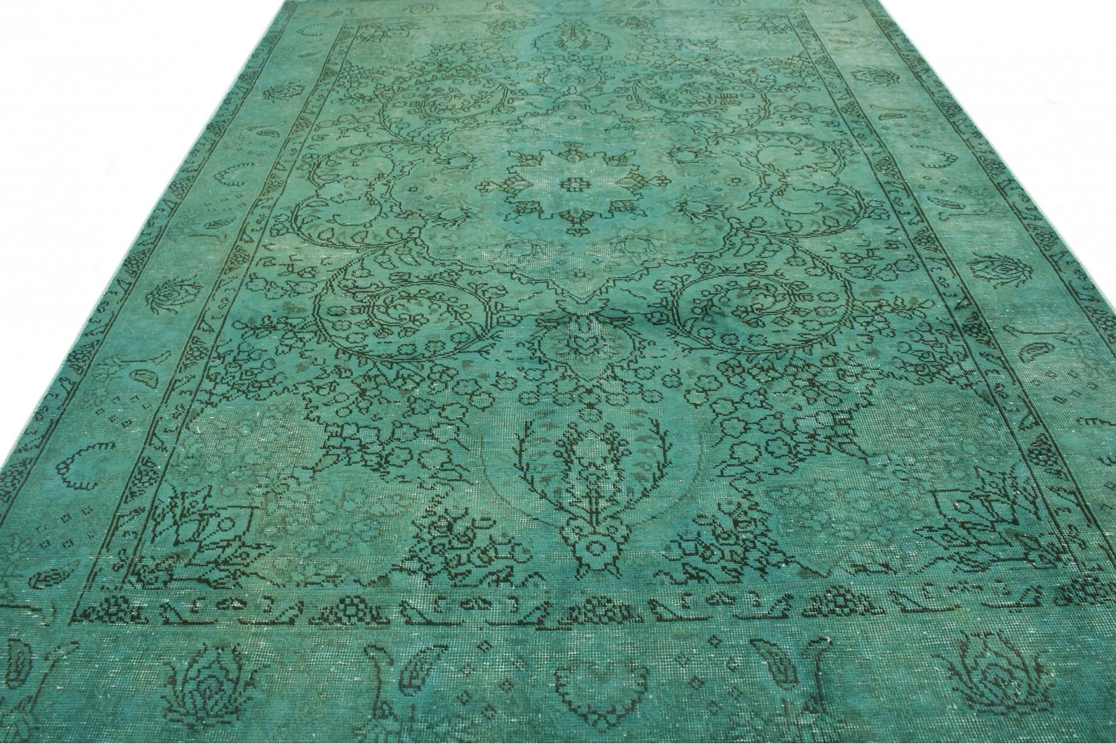 vintage teppich gr n t rkis in 290x200 1001 3712 bei kaufen. Black Bedroom Furniture Sets. Home Design Ideas