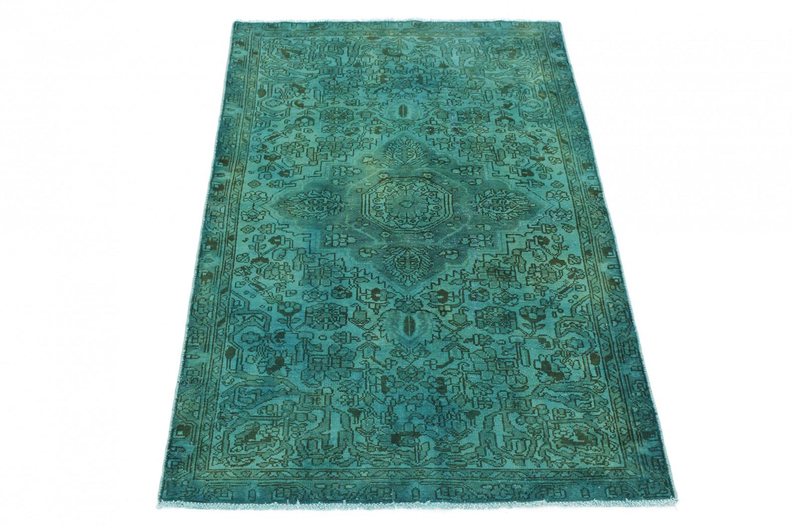 Vintage Teppich Türkis Grün in 200x130