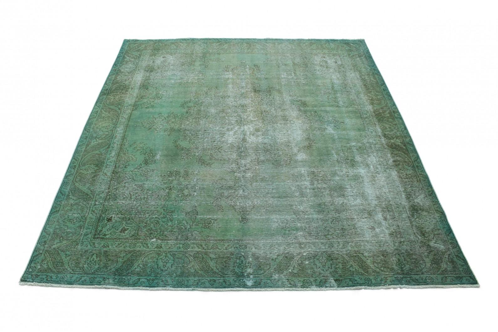 Vintage Teppich Grün Grau in 350x290 (1 / 5)