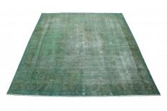 Vintage Teppich Grün Grau in 350x290
