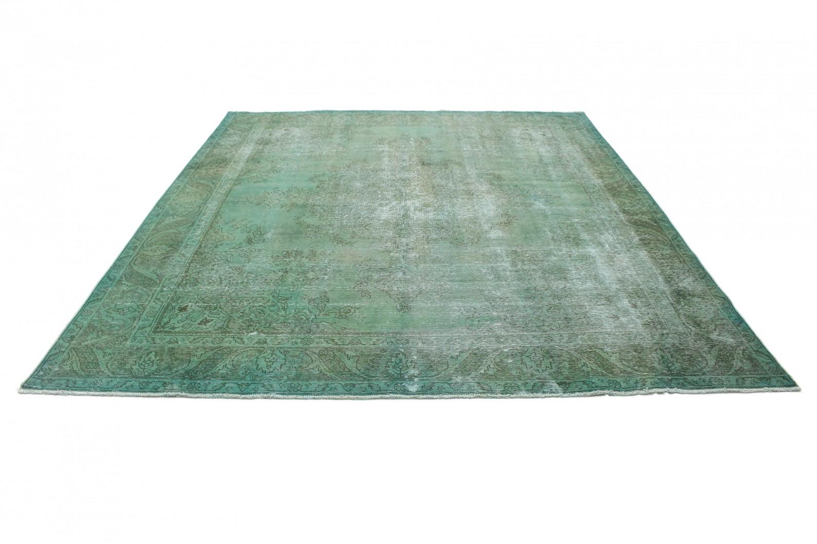 Vintage teppich grün grau in  bei carpetido