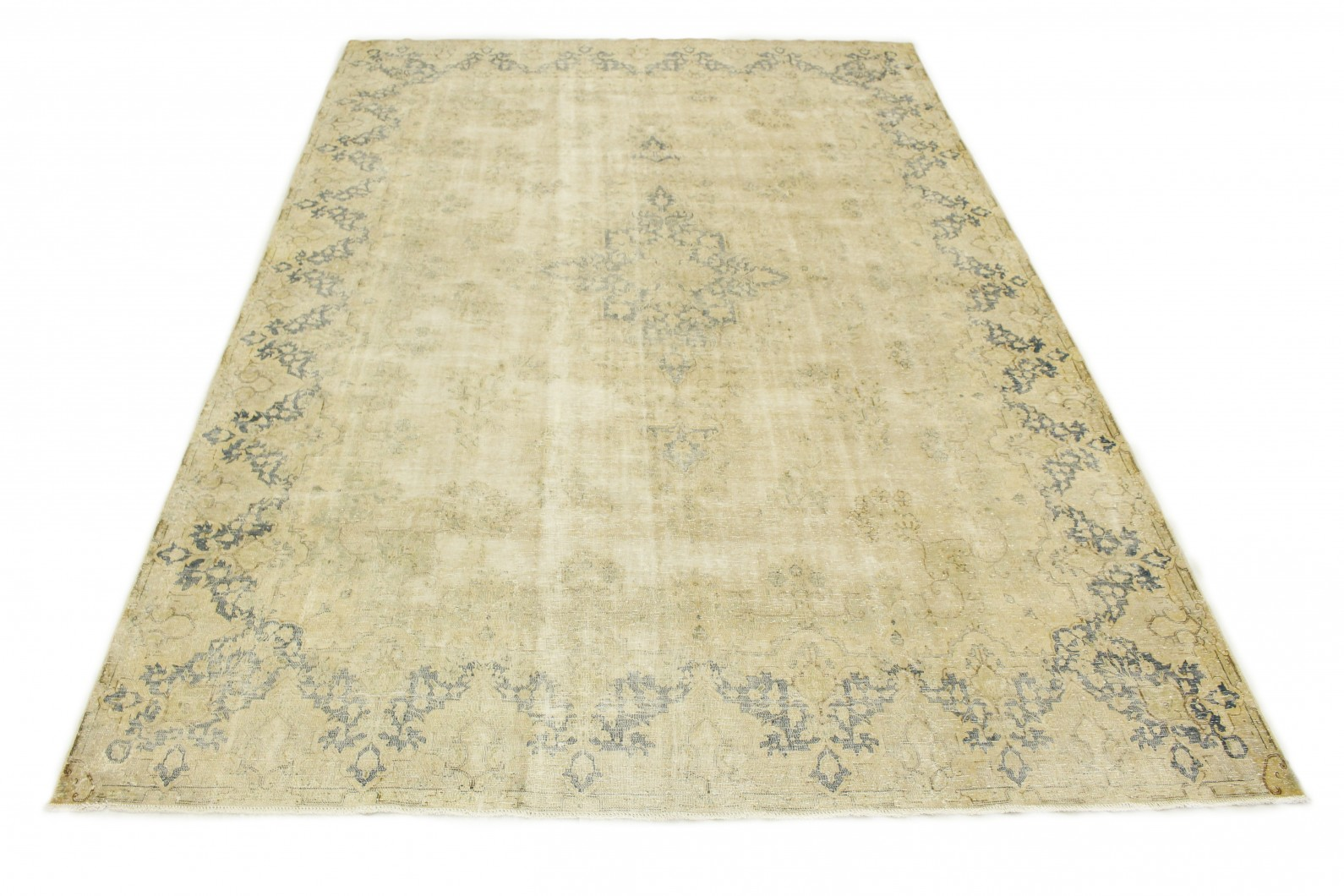 vintage teppich beige blau in 430x300 1001 3858. Black Bedroom Furniture Sets. Home Design Ideas