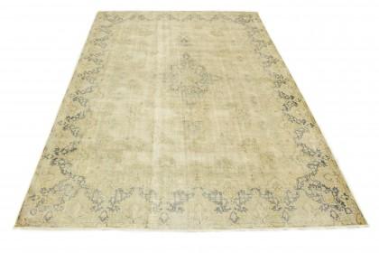 Vintage Teppich Beige Blau in 430x300