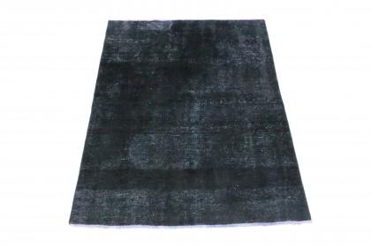 Vintage Teppich Schwarz Rosa in 190x150
