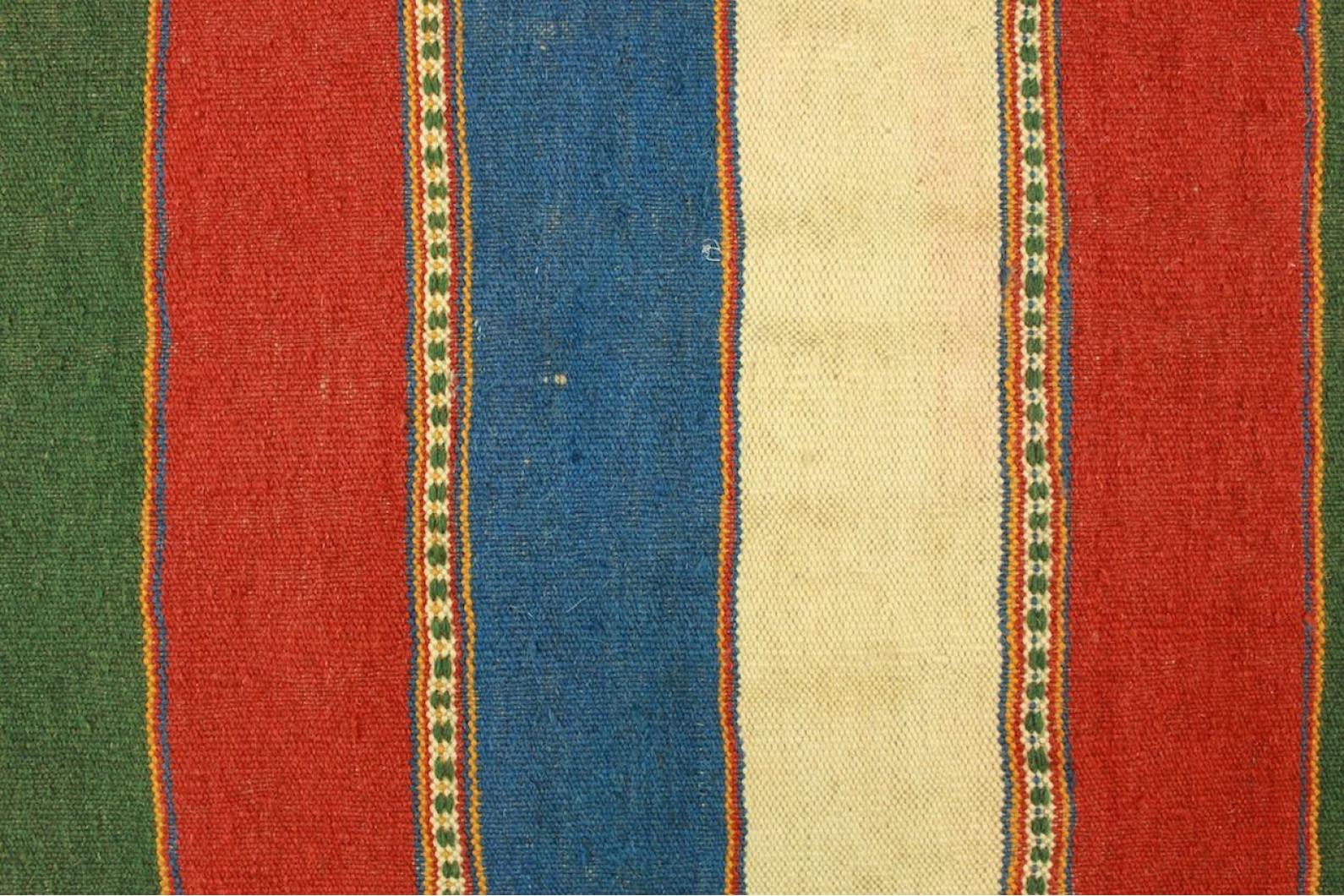 Kilim Rug Orange Green Red Blue In 140x100cm 1 4