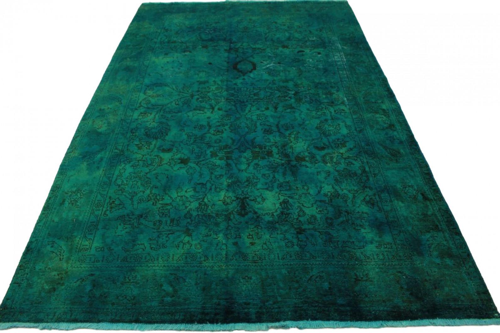 vintage teppich gr n in 310x190cm 1001 5032 bei kaufen. Black Bedroom Furniture Sets. Home Design Ideas