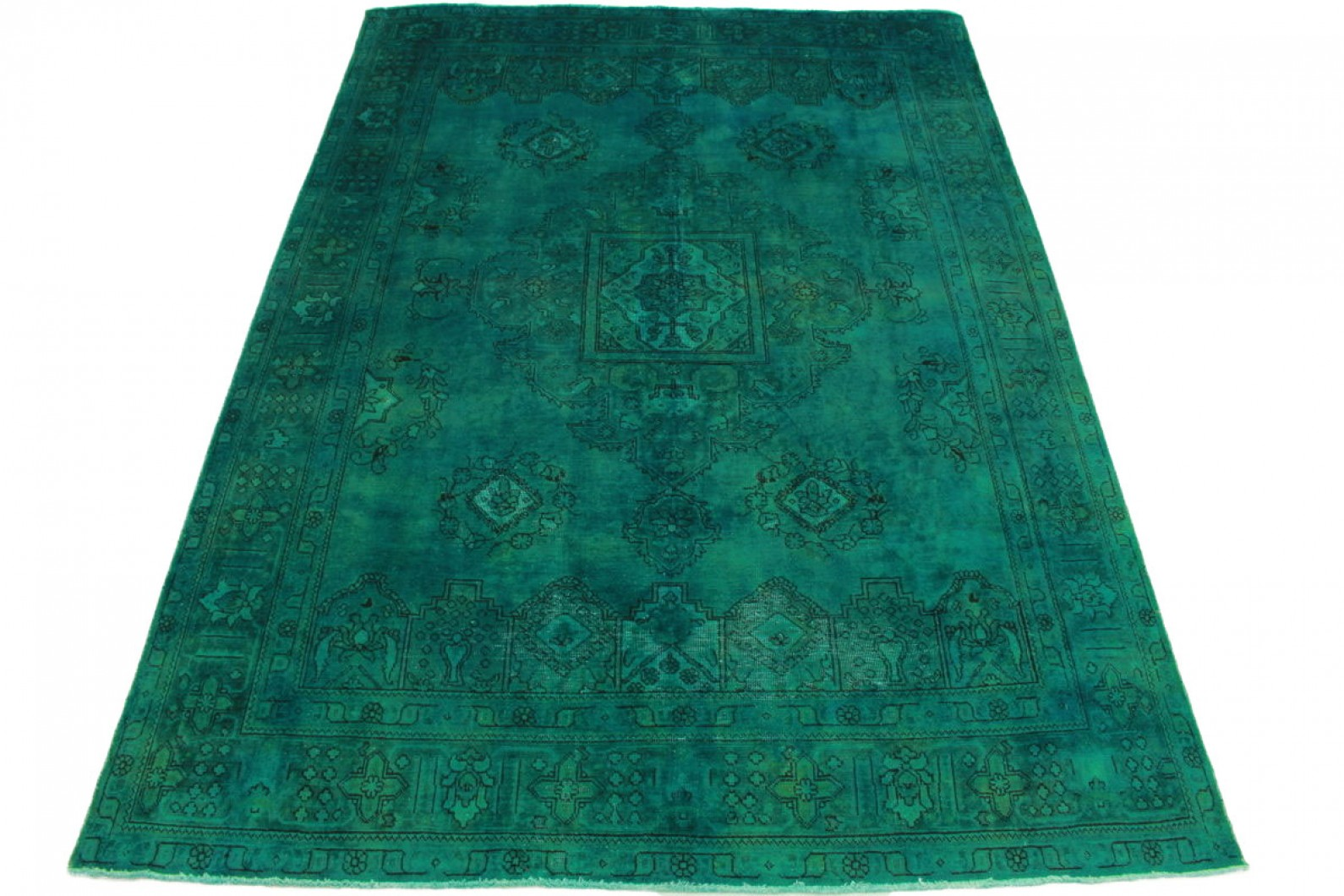 Vintage Teppich Türkis in 350x250cm