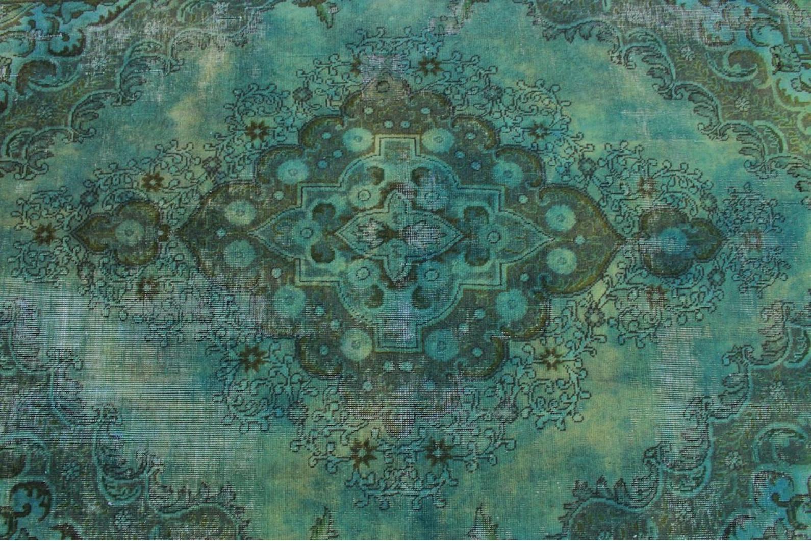Vintage teppich grün türkis in cm  bei carpetido