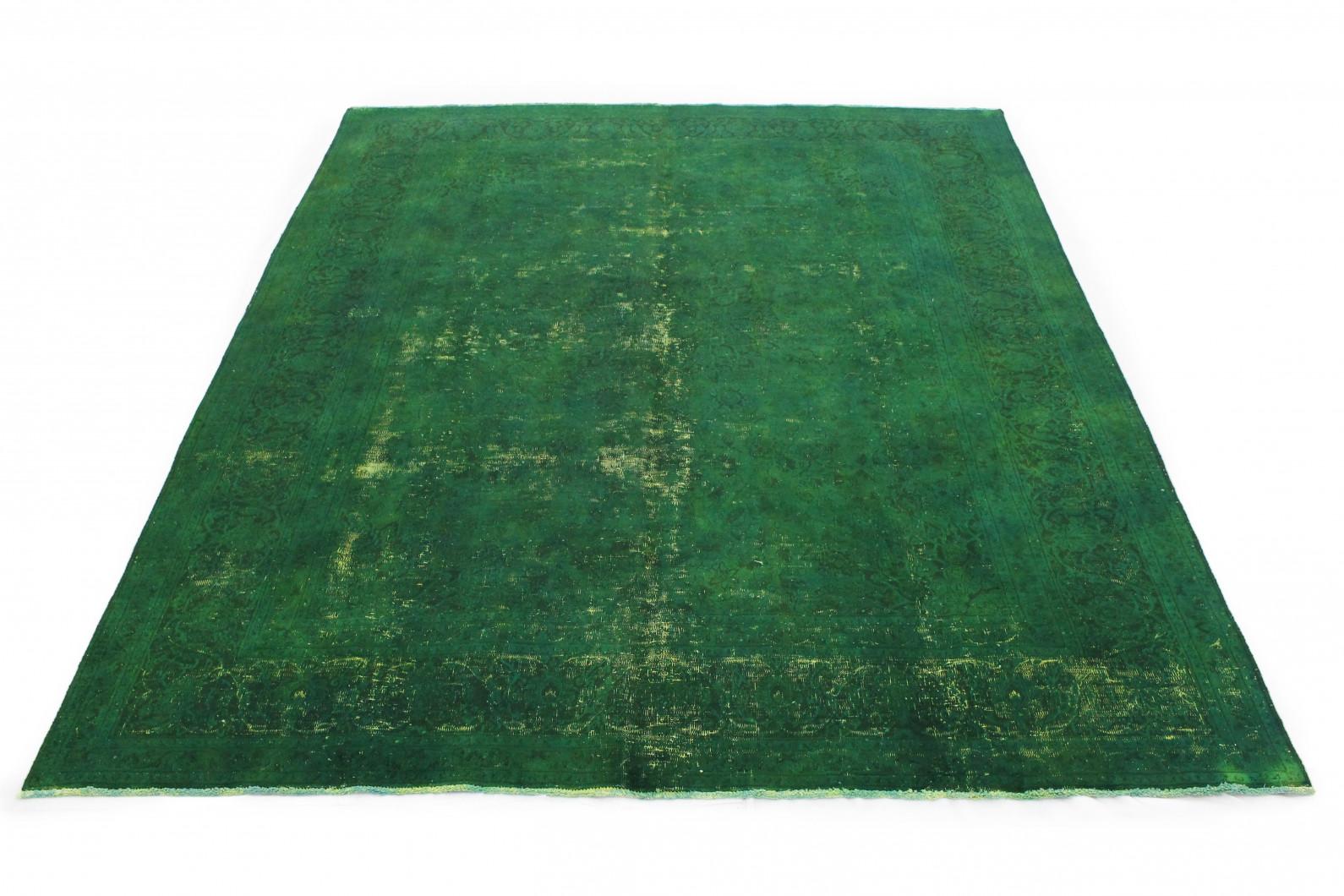 Vintage Teppich Grün in 390x290cm