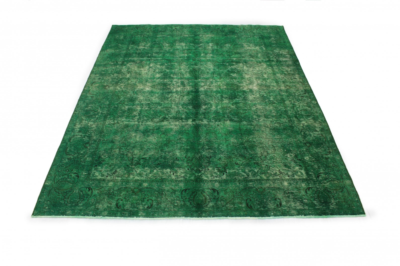 Vintage Teppich Grün in 370x280cm (1 / 6)