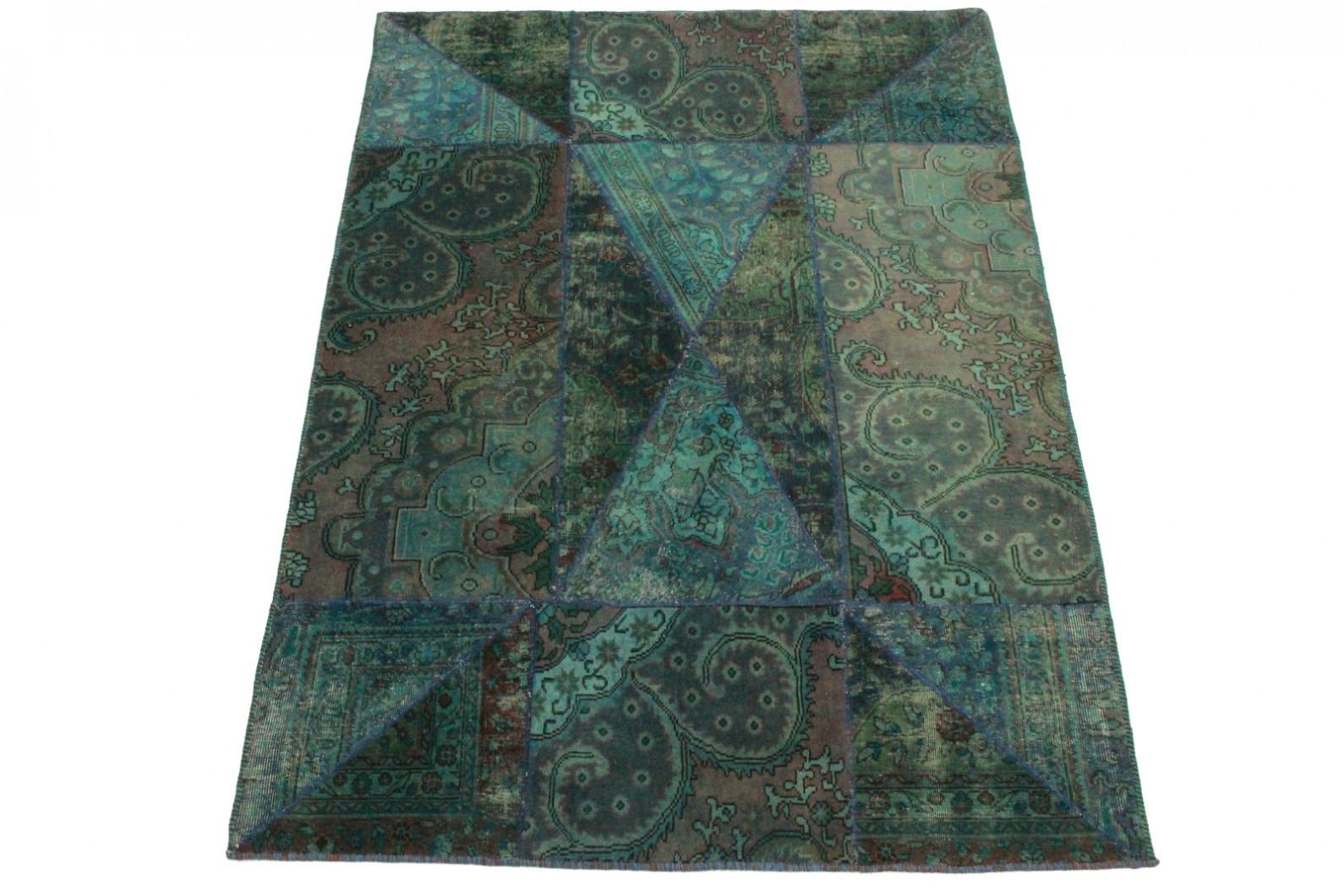 patchwork teppich blau t rkis in 240x170cm 1001 8003 bei kaufen. Black Bedroom Furniture Sets. Home Design Ideas