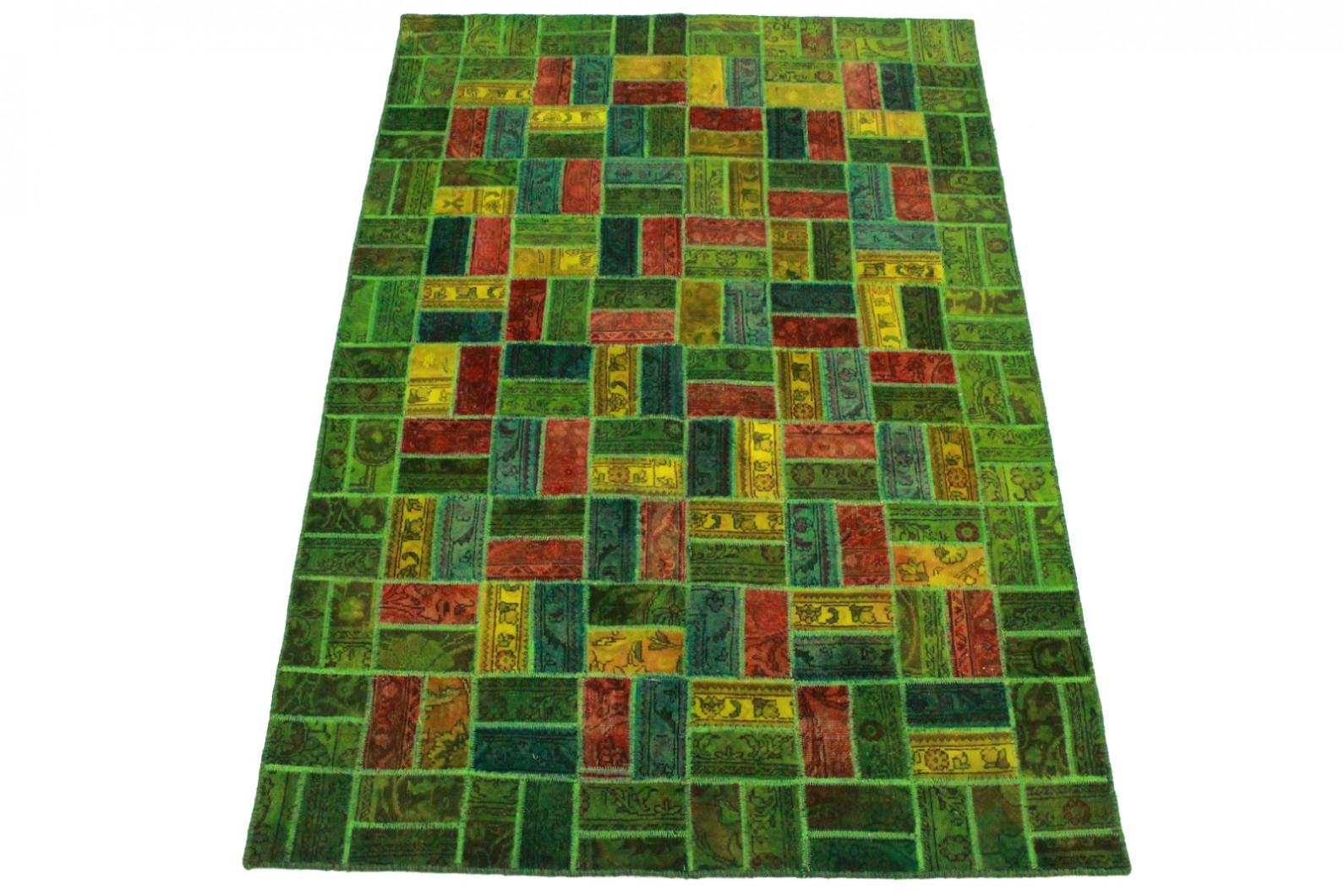 Patchwork Teppich Grun Rot Gelb In 250x160cm 1001 8014 Bei