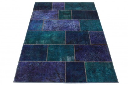 Patchwork Teppich Lila in 240x160cm 1001-806