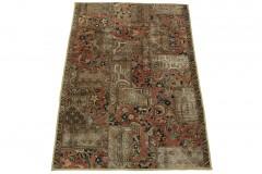 Patchwork Teppich Beige in 200x130cm