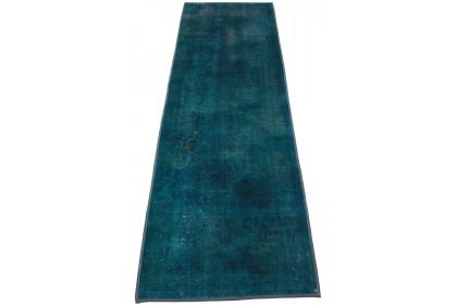 Vintage Teppich Blau Türkis in 260x80cm 1001-861