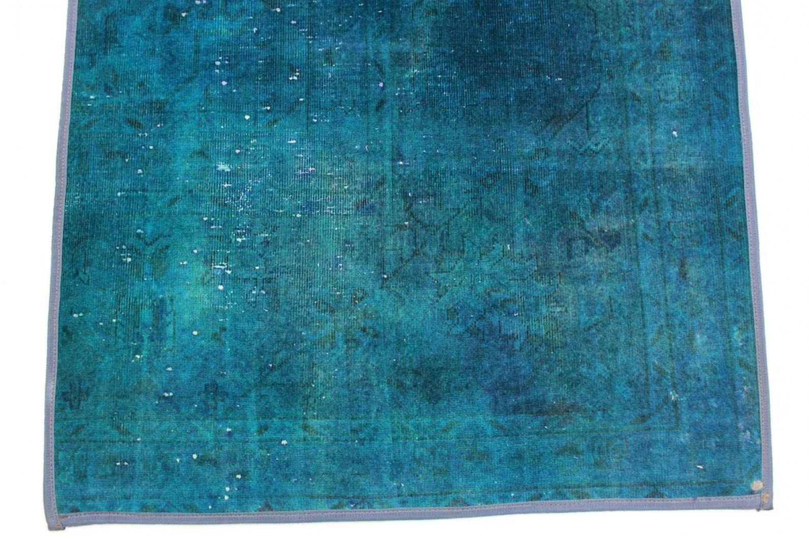 vintage teppich blau t rkis in 260x80cm 1001 861 bei. Black Bedroom Furniture Sets. Home Design Ideas